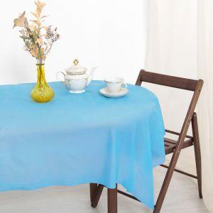 Скатерть для дачи Хозяюшка Радуга, цвет синий 137?274 см