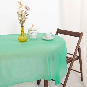 Скатерть для дачи Хозяюшка Радуга, цвет салат 137?183 см