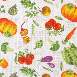 """Скатерть """"Доляна""""  Овощи 145х180 см, 100% хлопок,вафельное полотно, 162 г/м2   4252208"""