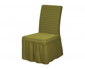 Набор чехлов для стульев 6 шт с оборкой ,Asmina  06-Yesil