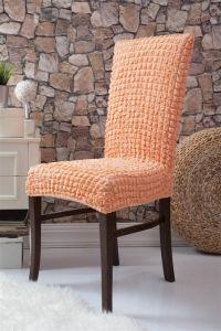 Набор чехлов для стульев 6 шт без оборки,Коралловый