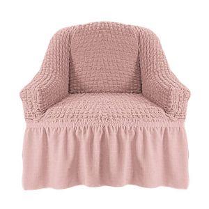 Чехол на кресло с оборкой (1шт.) К 029,Сухая роза