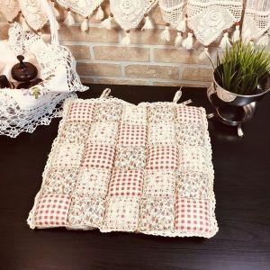 Подушка для стула пэчворк дизайн 21