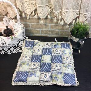 Подушка для стула пэчворк дизайн 22