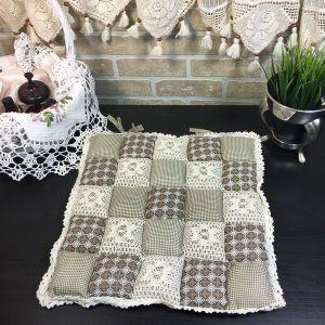 Подушка для стула пэчворк дизайн 23