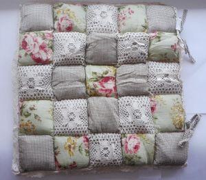 Подушка для стула пэчворк дизайн 15