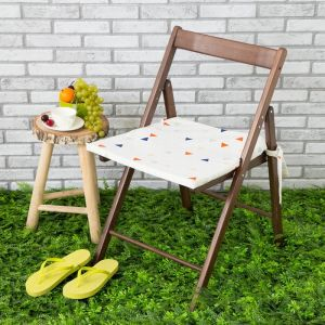 Подушка на стул уличная «Этель» Треугольники, 45?45 см, репс с пропиткой ВМГО, 100% хлопок