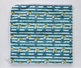 Впитывающая пеленка Кот под зонтом (микрозамша)  74*74