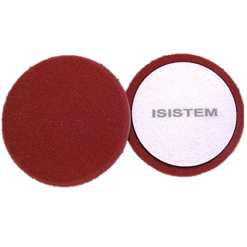 ISISTEM Полировальный круг из поролонa D150 mm T30 mm жесткий бордовый Profi Bordeaux