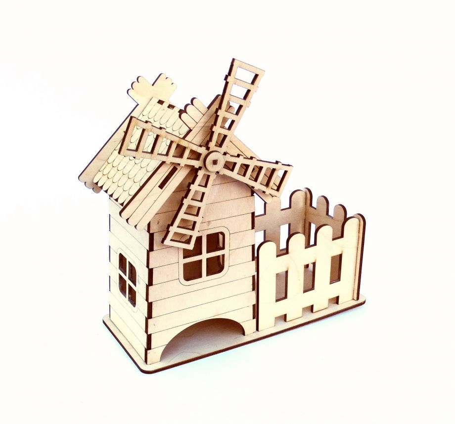 Чайный домик мельница с забором
