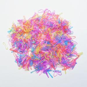 `Силиконовые резинки для волос, диаметр 20 мм, ширина 2 мм, цвет: яркие неон (1уп = 10г ~220шт)