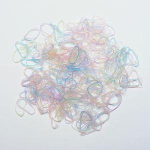 `Силиконовые резинки для волос, диаметр 25 мм, ширина 2,3 мм, цвет: пастельные неон (1уп = 10г ~110шт)