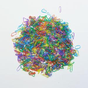 `Силиконовые резинки для волос, диаметр 10 мм, ширина 1,5 мм, цвет: яркие №3 (1уп = 10г ~560шт)