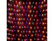 Гирлянда электрическая сетка, 200 ламп, разноцветные, 3,8 м, 10 рядов по 20 ламп