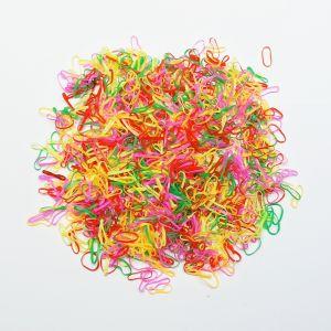 Силиконовые резинки для волос, диаметр 10 мм, ширина 1,5 мм, цвет: яркие №2 (1уп = 50г ~2800шт)