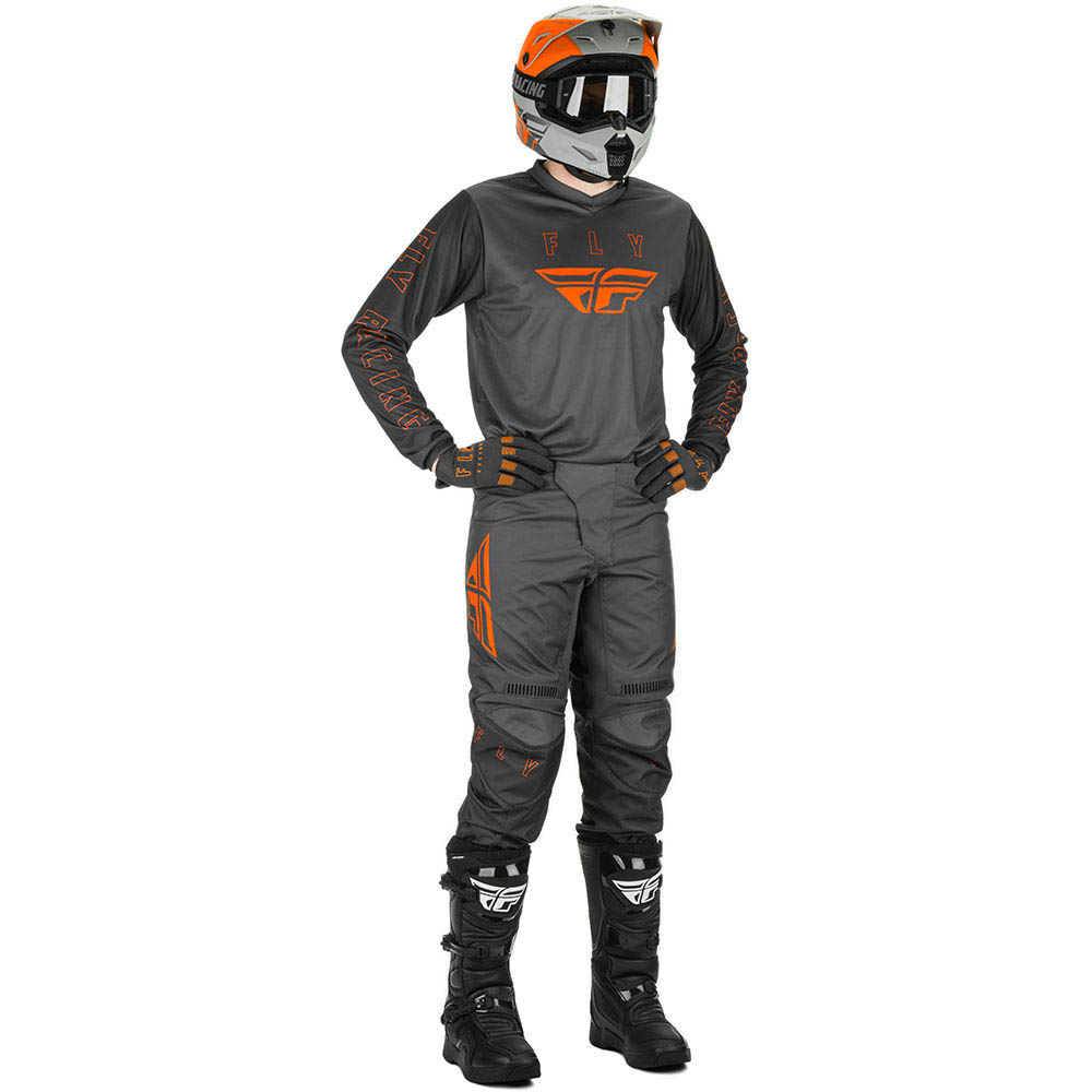 Fly Racing 2021 F-16 Grey/Orange  комплект джерси и штаны