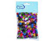 Конфетти разноцветное, круглое, 10 мм, 100 г в пакете
