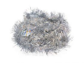 Мишура одноцветная, серебряная, блестящая, 100 мм, длина 2 м|2
