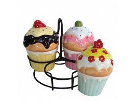 Набор для сладостей 4 предмета, керамика, ассорти цв., 1 дизайн, WINTER WINGS, СЛАДКАЯ СИМФОНИЯ
