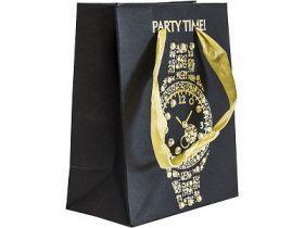Пакет подарочный крафт, 111*137*62 мм, с тиснением и декор.украшениями