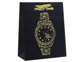 Пакет подарочный крафт, 260*324*127 мм, с тиснением и декор.украшениями