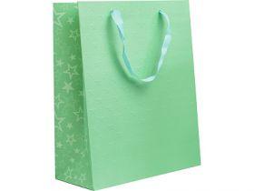 Пакет подарочный ламинированный, 26*32*12 см, с двустор.рельефным тиснением, бумага