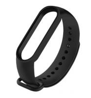 Сменный ремешок на фитнес - трекер Xiaomi Mi Band 5 ( Черный )