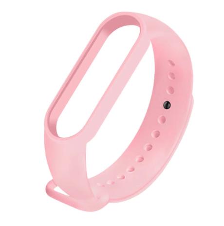 Сменный ремешок на фитнес - трекер Xiaomi Mi Band 5/6 ( Светло-розовый )