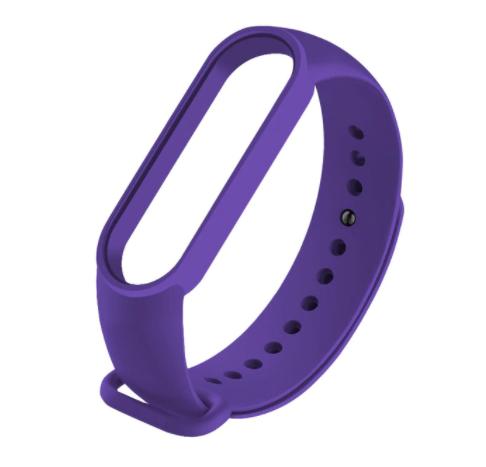 Сменный ремешок на фитнес - трекер Xiaomi Mi Band 5/6 ( Темно-фиолетовый )