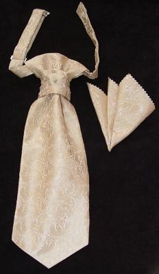 Комплект подарочный «Бернард» (галстук+платок в коробочке)