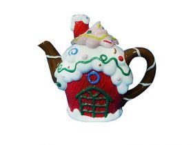 Чайник заварочный, 20,5х17,2 см, керамика, ассорти цв., WINTER WINGS, ПИРОЖНОЕ