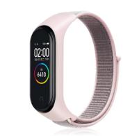 Сменный тканевый ремешок на фитнес-браслет Xiaomi mi band 5 ( розовая ткань )