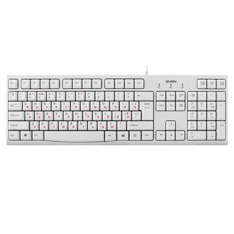 Клавиатура Sven KB-S300 White USB