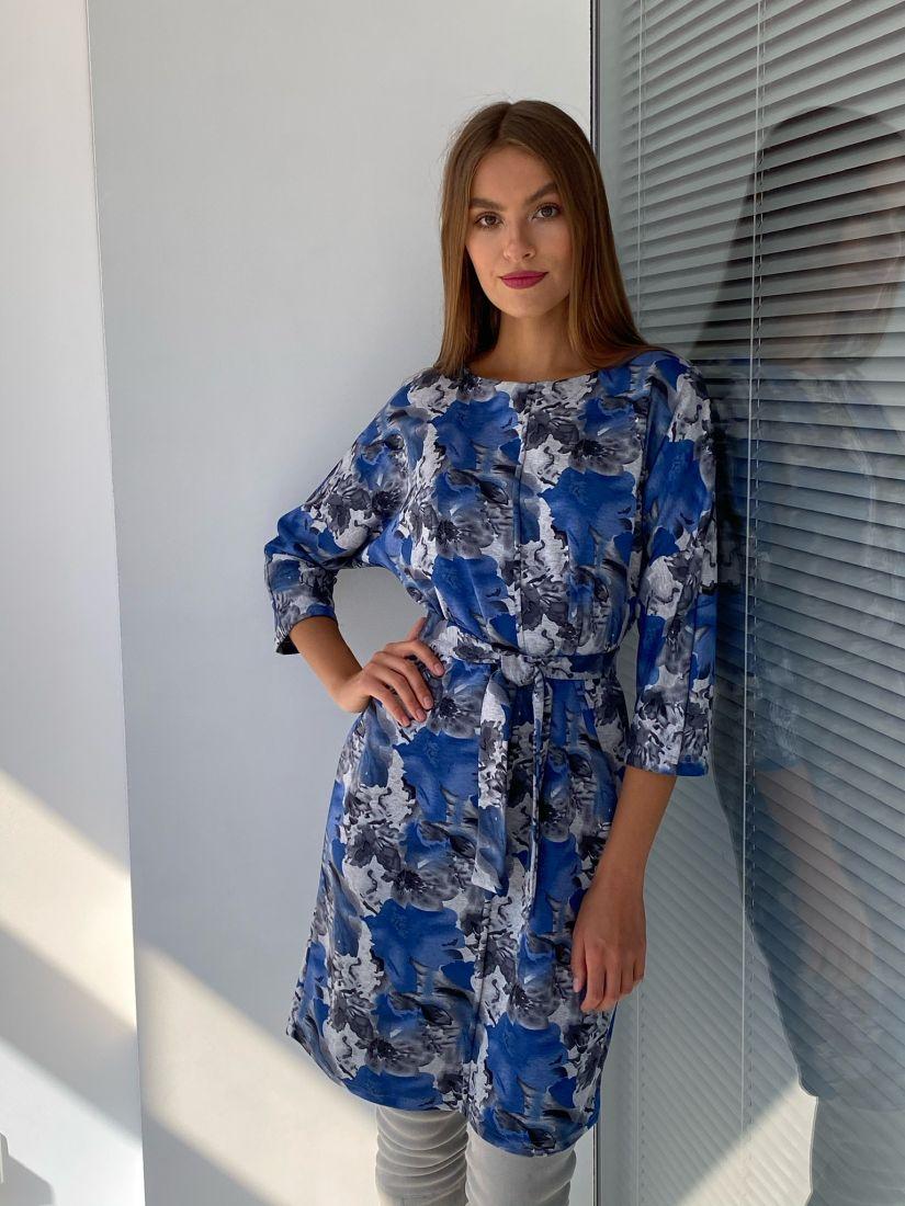 s2333 Платье из трикотажа с планкой