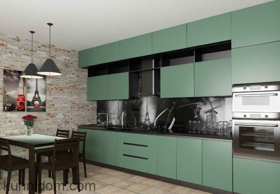Кухня Fenix NTM Bloom 0773 Verde Brac