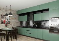 Кухня Fenix NTM Bloom 0773 Verde Brac