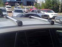 Багажник на крышу BMW X3 (F25) 2010-17, Lux Bridge, крыловидные дуги (серебристый цвет)