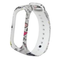 Сменный ремешок с рисунком на фитнес-браслет Xiaomi mi band 5 ( Париж )