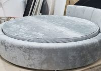 Матрас круглый Стандарт диванного типа ППУ Мебель-ONLY №2 в чехле в цвет кровати.