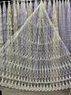 Тюль турецкая вышивка на микро сетке веера