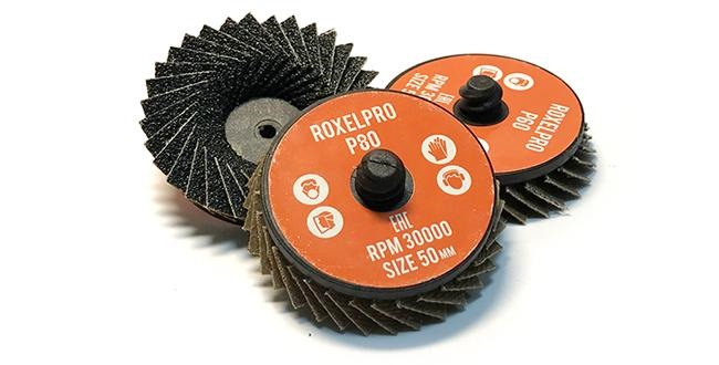 RoxelPro P80 Лепестковый круг QCD 50мм