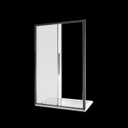 Душевая дверь BAS IDEA WTW-130-C-B, 130, черный профиль