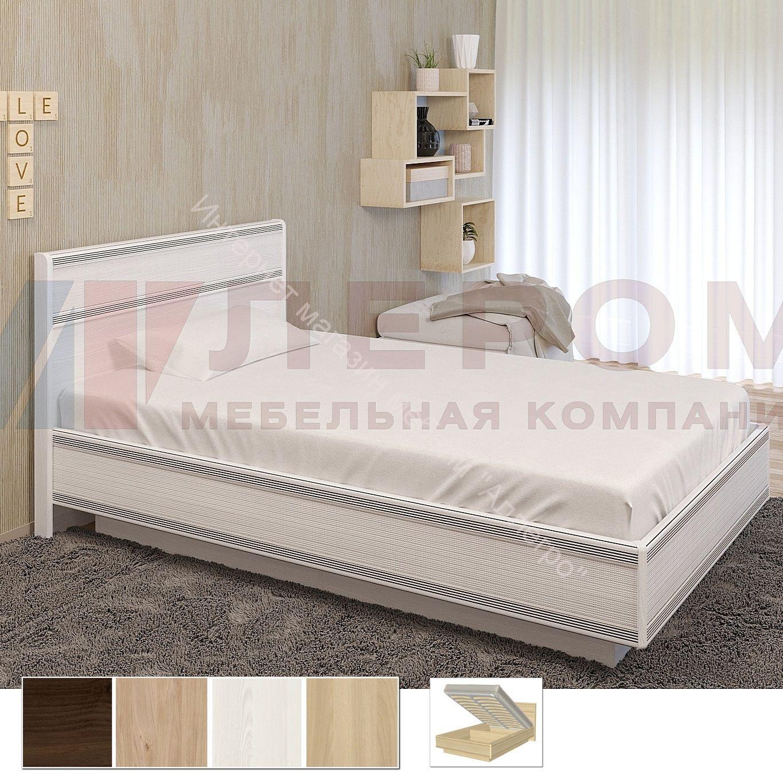 Карина Кровать КР-1002 (1,4х2,0) с П/Мех. и жестким изголовьем