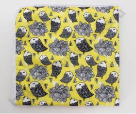 Непромокаемая пеленка Птички на желтом  74*74