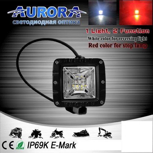 Квадратная светодиодная фара рабочего свечения 12W ALO-2-E12KR