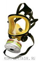 Полнолицевая маска желтая с фильтром