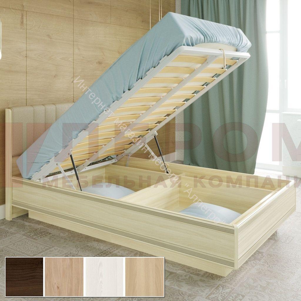 Карина Кровать КР-1011 (1,2х2,0) с П/Мех. и мягким изголовьем