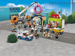 Конструктор LARI Cities Открытие магазина по продаже пончиков 11392 (Аналог LEGO City 60233) 848 дет