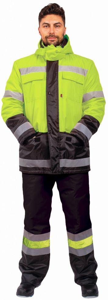 Костюм зимний Дорожник (тк.Оксфорд) брюки, лимонный/черный