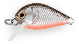 Воблер Strike Pro Crazy Plankton 21 мм / 1,3 гр / Заглубление: 0 - 0,4 м / цвет:  A70-713 Black Silver OB